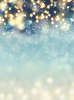 Sparkly Neon Color Snow Winter Bokeh Mistletoe Christmas Holiday photo backdrop Vinyl cloth Computer print party background