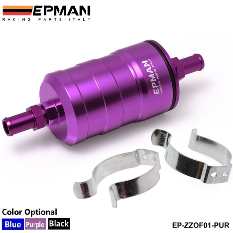 EPMAN Racing Fuel Filter UNI Competition 10Micron Paper Filter Complete Default color is Purple EP-ZZOF01