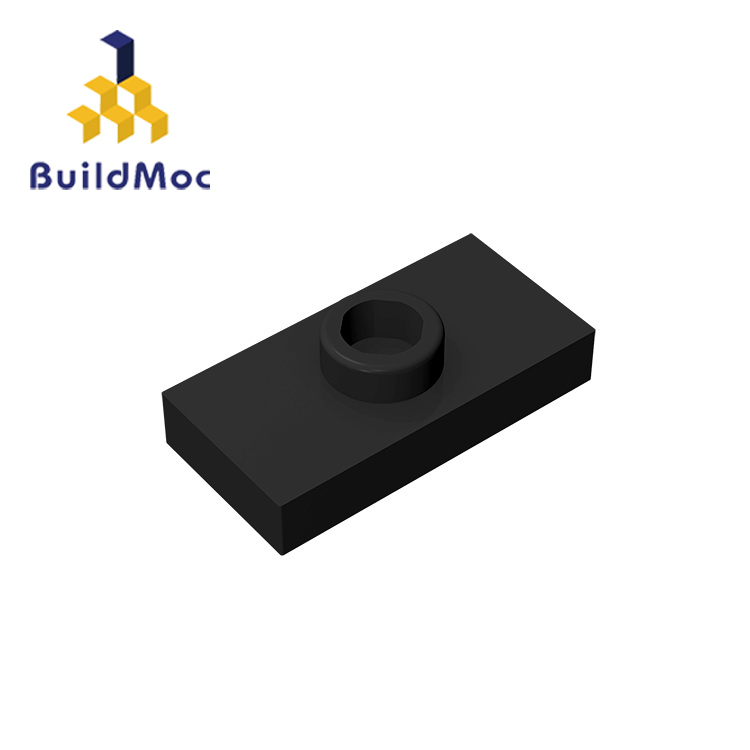 BuildMOC Compatible Assembles Particles 15573 1X2 For Building Blocks Parts DIY LOGO Educational Tech Parts Toys