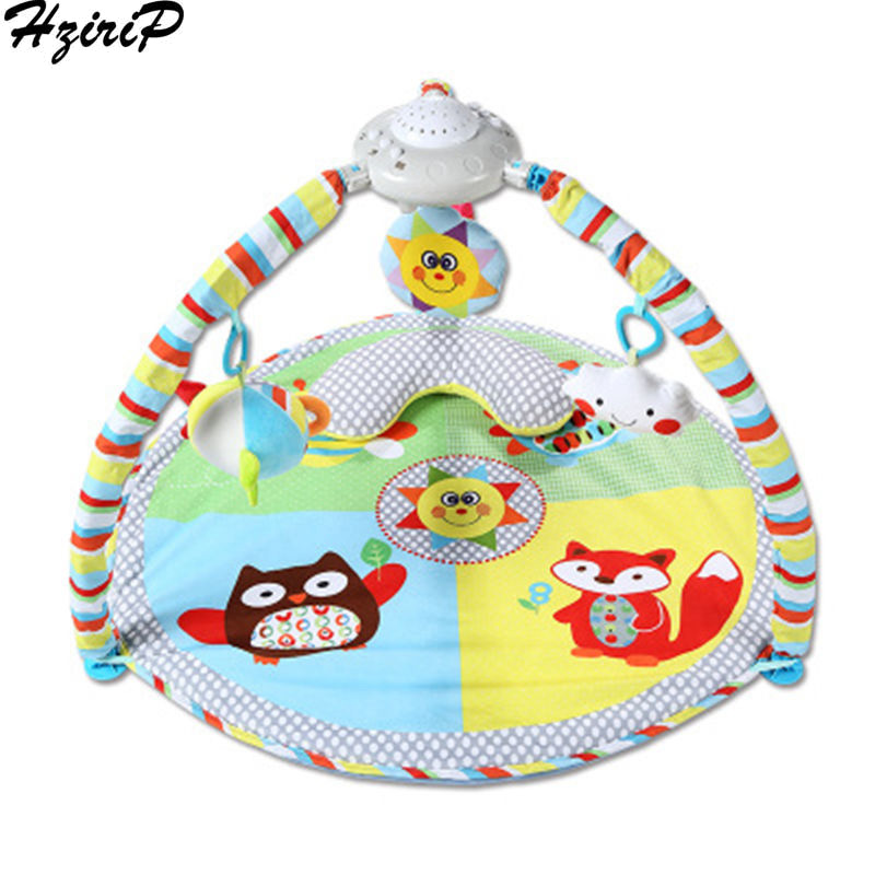 HziriP Whole Educational Toys Sun Animal Projector Baby Music Game Blanket Fitness Stand Rack Carpet Canvas Crawling Bracket Mat вешала sun music sh539d
