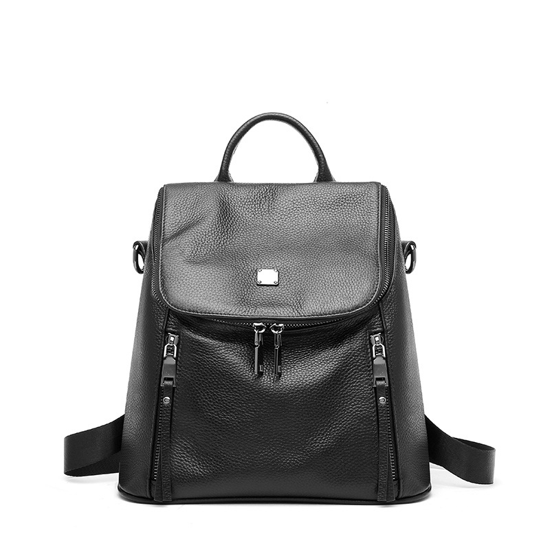 Women Genuine Leather Backpack Luxury First Layer Leather Bagpack Large Capacity Multifunctional Female Travel Backpacks Black 1 2 brass thermostatic mixing valve 3 4 bathroom faucet temperature mixer control thermostatic valve automatic constant