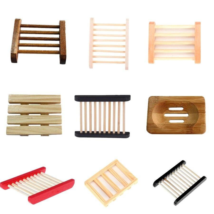 9 Stile Holz Natürlichen Bambus Seife Dish Holz Seife Tray Halter Lagerung Seife Rack Platte Box Container Für Bad Dusche Platte