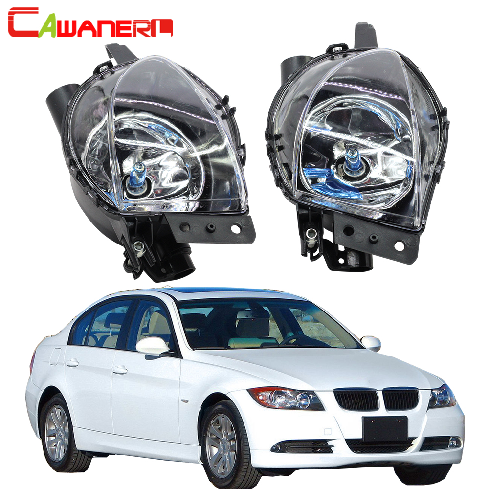 Cawanerl 2 Pieces Car Fog Light 100W H11 Halogen Bulb Daytime Running Lamp DRL For BMW
