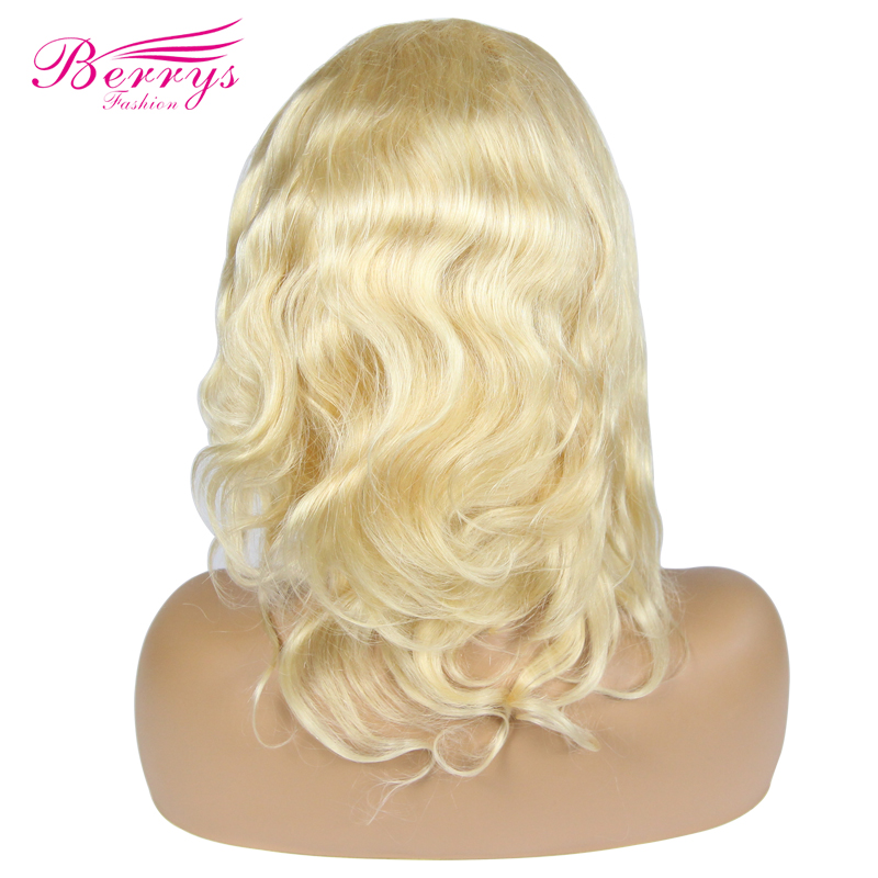 Human-Hair Body-Wave Full-End Wigs Blonde-Color Lace-Front Brazilian Fashion for Women