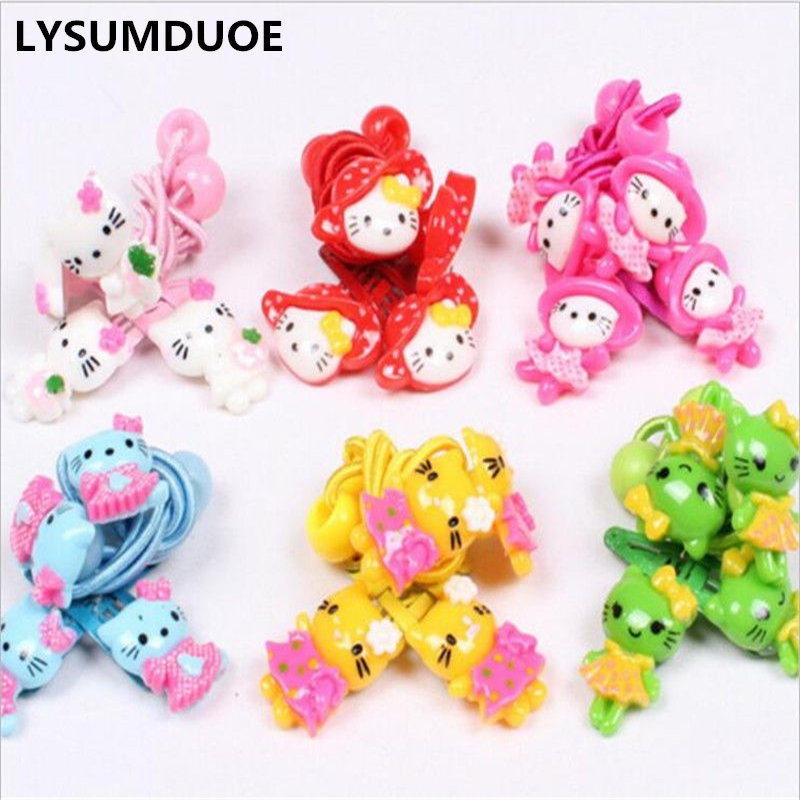 LYSUMDUOE New Hello Kitty Hair Accessories Princess Headband Kids Hair Clip Elastic hair Bands Headbands Kawaii Hairpin For Girl jrfsd 7pcs set new fashion girls hair clip cartoon images hair bands princess mini dress hairgrip kids hair accessories