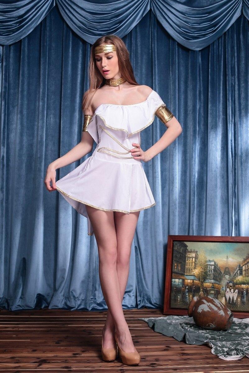 buy online ea6c7 f5eac US $15.94 15% di SCONTO Halloween deluxe donne sexy dea greca dress cosplay  dea greca costume regina venus abbigliamento club di gioco vestiti da ...