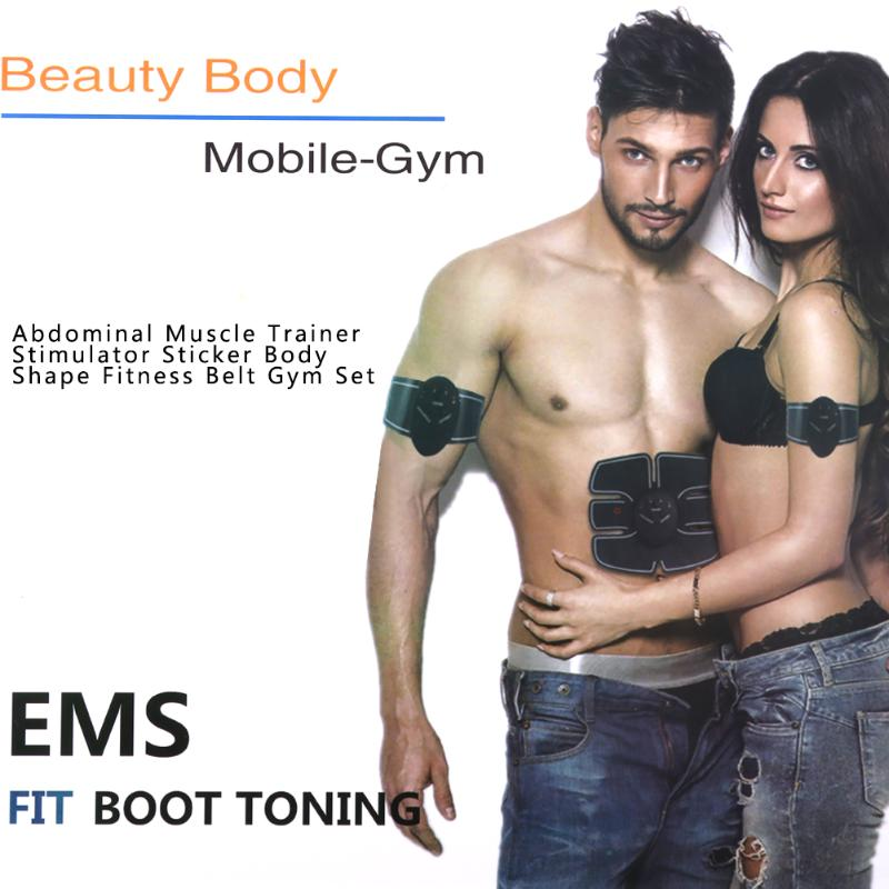 Abdominal Muscle Trainer Electronic Gear Device Muscle Intensive Trainer Body Building Slimming Massager Fitness Training Gear