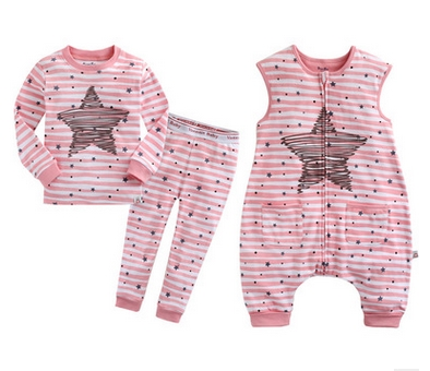 Luxury Baby Rompers Striped Stars Children Vestido Infantil Baby