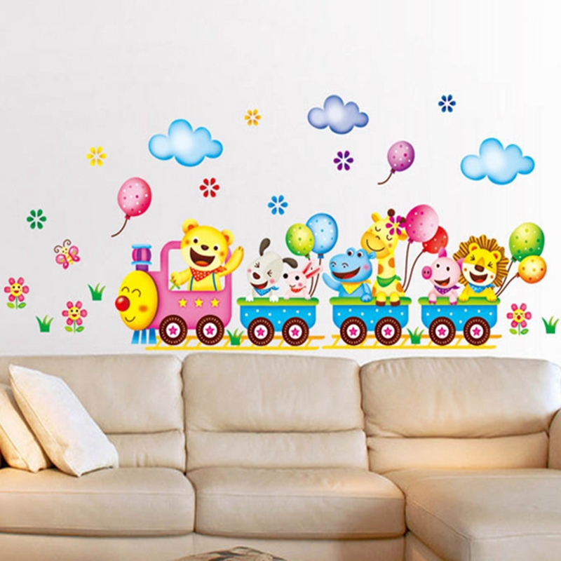 Aliexpress.com : Buy Train Wall Sticker For Kids Room Home Decor Nursery Wall  Decal Children Poster Baby House Mural DIY Xy3013 From Reliable Sticker For  ... Part 54