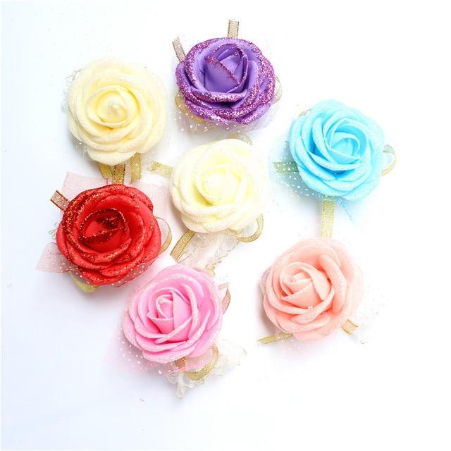 Hot sale Wedding decoration Handmade Wrist flower For bride bridesmaids  wrist corsages bridal wrist Decoration Flowers c0329b3e82e2
