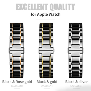 Image 2 - Ceramic watcn band For Apple Watch 4 5 44mm 40mm Bracelet for iwatch 3 2 38mm 42mm Ceramic With Stainless Steel Strap Watchband