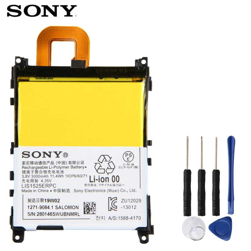 Original Replacement Sony Battery For SONY L39h Xperia Z1 Honami SO-01F C6902 C6903 LIS1525ERPC Genuine Phone Battery 3000mAh