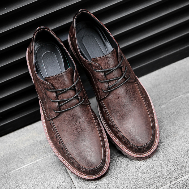 2018 lente Heren Business Merk flats Casual schoenen Lace Up Heren - Herenschoenen - Foto 4