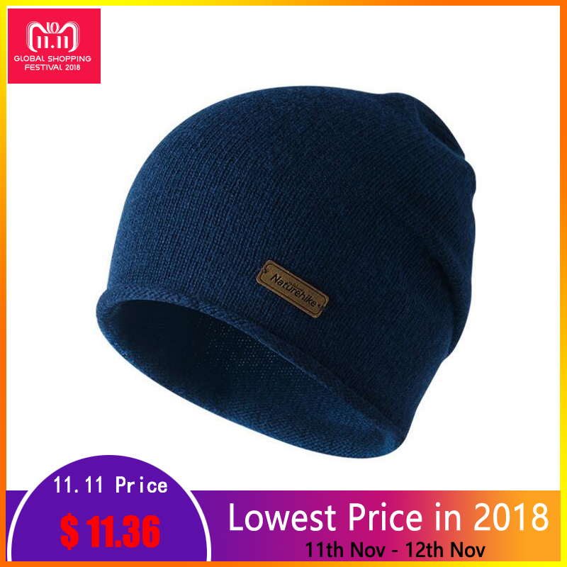 Naturehike Winter Hat Wool Knit Beanies Warm Camping Outdoor Travel Hiking Cap Women's Men's Windproof Hats Sports Winter Caps new amazing winter hats for women snow caps warm knit skullies and beanies solid color hot 1