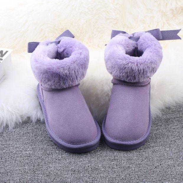 Winter new 2018 Japanese cute bow leather snow boots macarons thick warm student shoes cotton.Winter new 2018 Japanese cute bow leather snow boots macarons thick warm student shoes cotton.