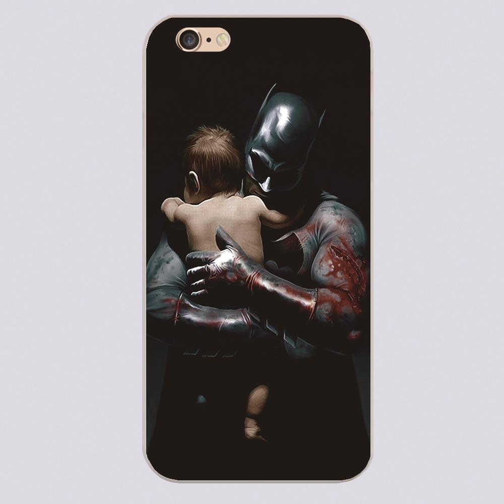 Batman take a baby in his arms Design phone cover cases for iphone 4 5 5c 5s 6 6s 6plus Hard Shell
