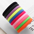 Fashion 10pcs/lot Big Size Candy Colored Quality Elastic Ponytail Holders Accessories Girl Women Rubber Bands Tie Gum(Mix Color)