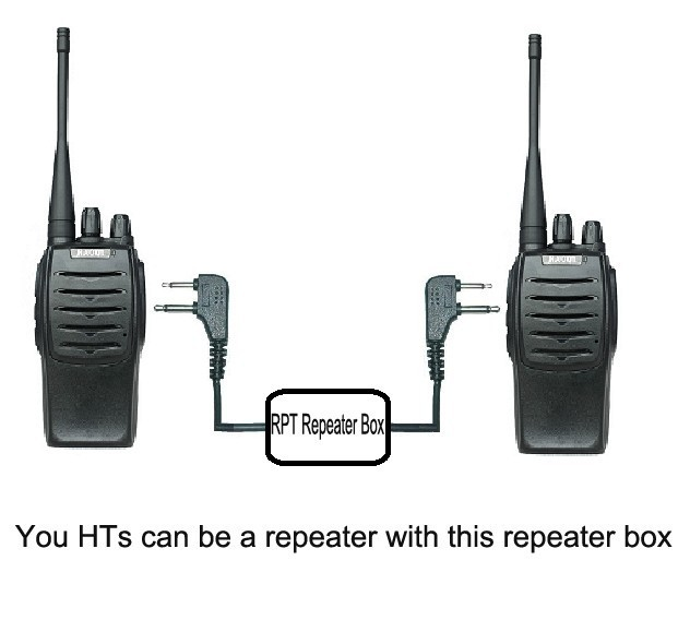 SainSonic RPT-2D Two-way Radio Repeater Box for Two Transceivers Station DIY US!