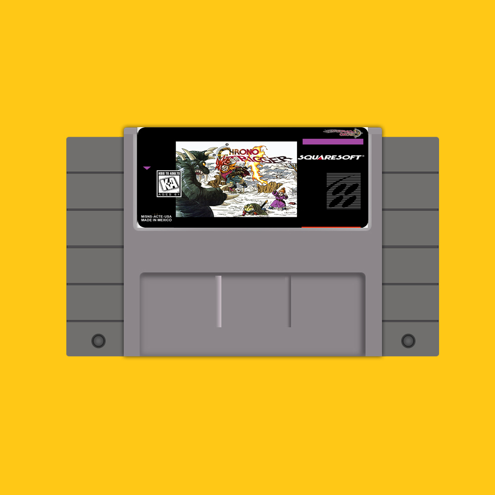 Chrono Trigger Save File 16 bit Big Gray Game Card For USA NTSC Game Player цена