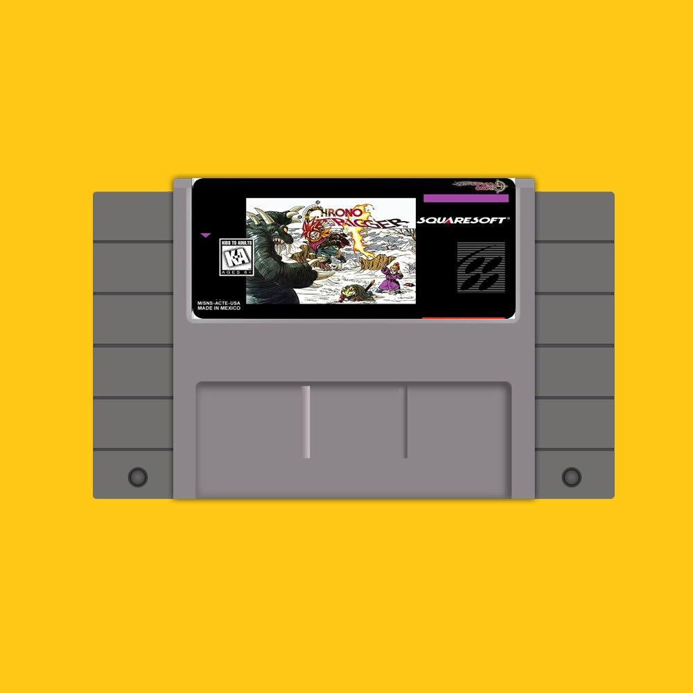 Chrono Trigger Save File 16 bit Big Gray Game Card For USA NTSC Game Player