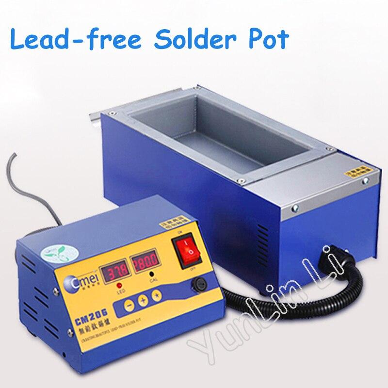 Kurşunsuz lehim Pot dijital yüksek sıcaklık erime teneke fırın Dip teneke makinesi 220/110V bölünmüş kurşunsuz lehim fırın