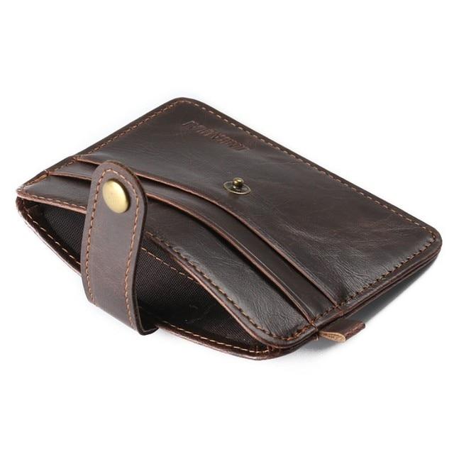 f322575492ef5 İnce erkek Cüzdan Mini Çantalar Kredi Kartı Tutucu Kart çanta Sikke çanta  Suni Deri Kart Durumda