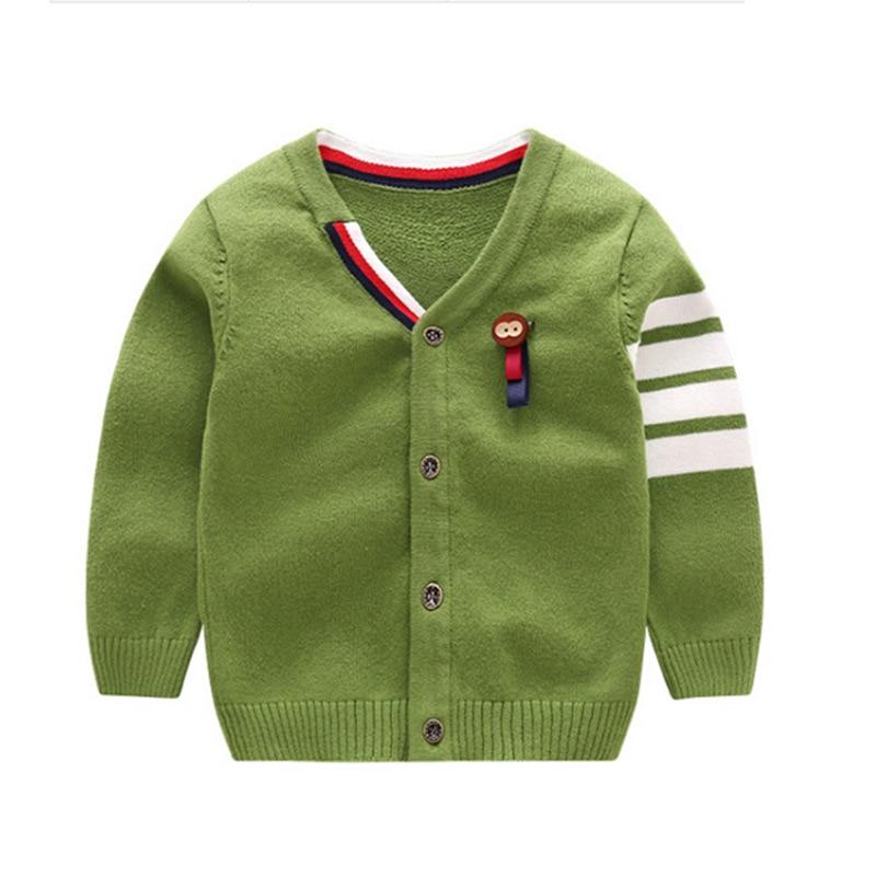 Warme jongens-truien Lange mouw Pasgeboren sweaters met Aap-gebreide - Babykleding - Foto 4