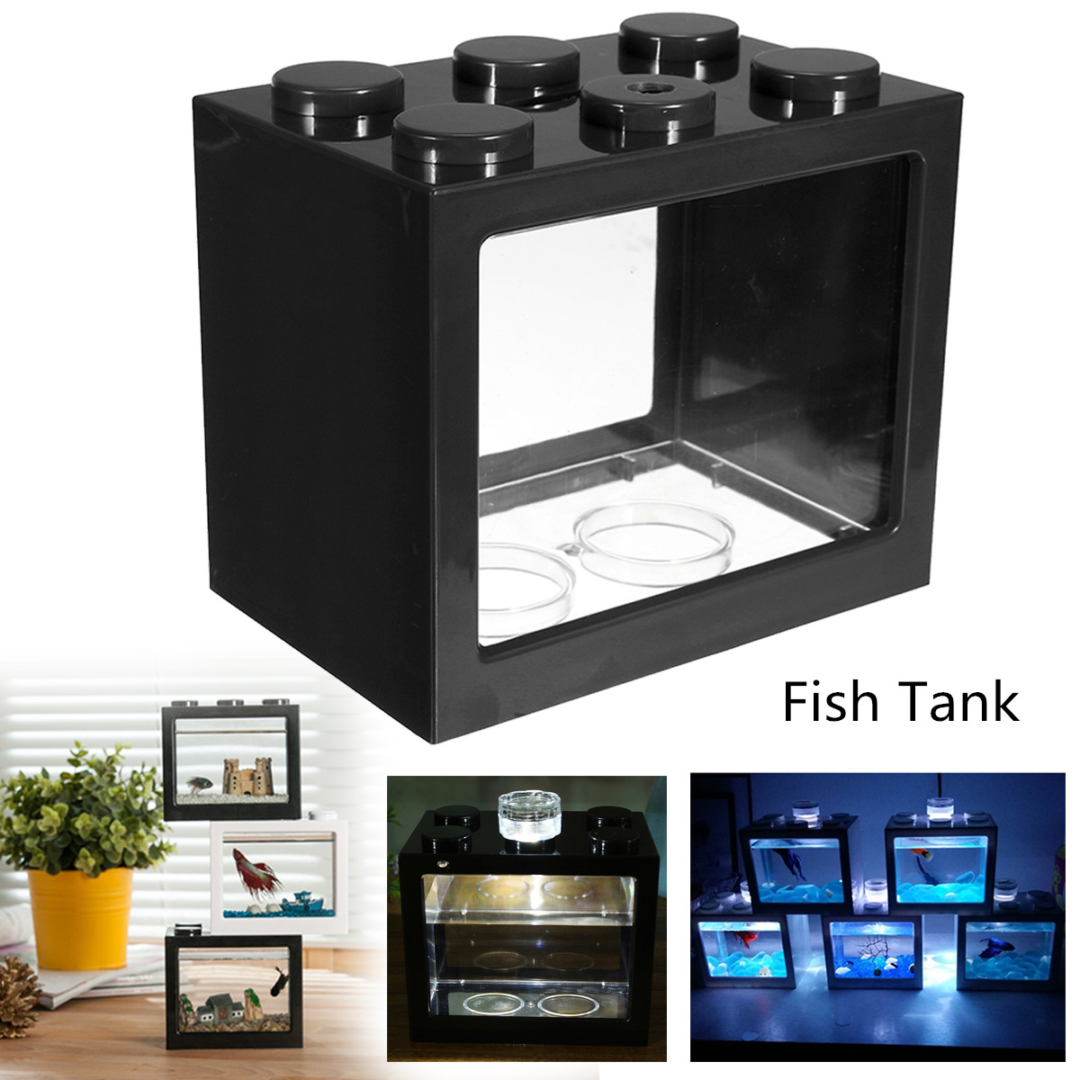 Mini Fish Tank with light