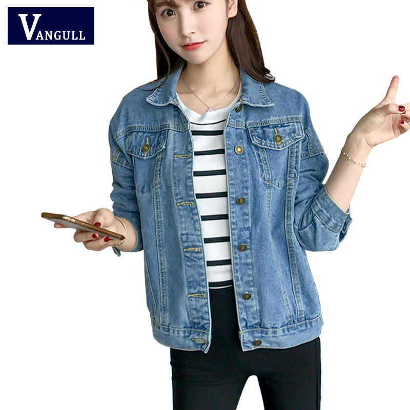 a5b3e5c9648a Новое поступление весна осень короткая джинсовая куртка s винтажное  повседневное пальто женская джинсовая куртка для верхней