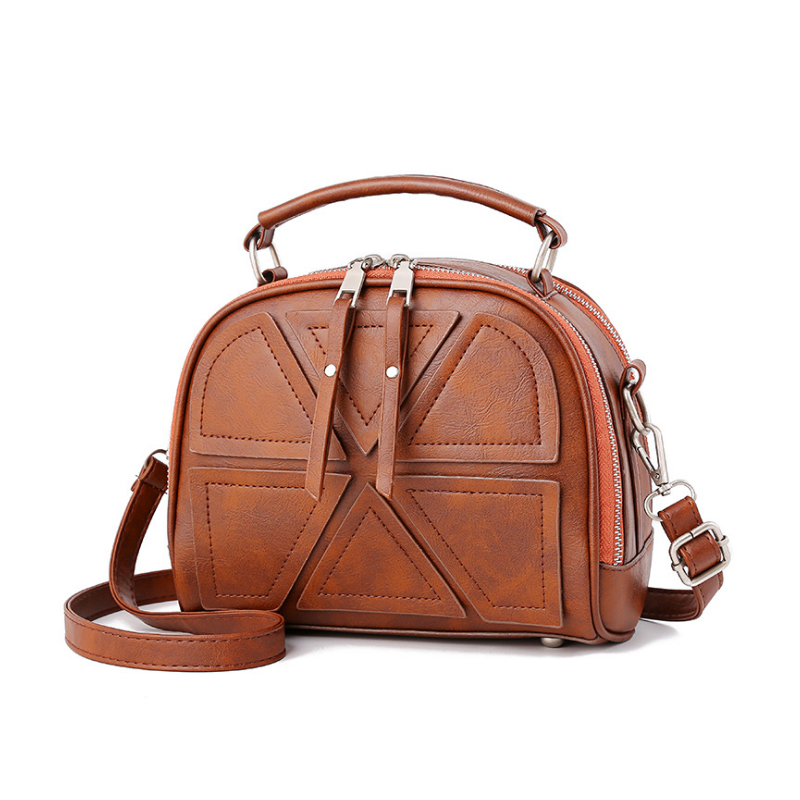 Homeda High Quality PU Leather hand bag Women Top-Handbag Fashion Zipper Women Shoulder Bag Shell Stlye Women Bag baobao sac