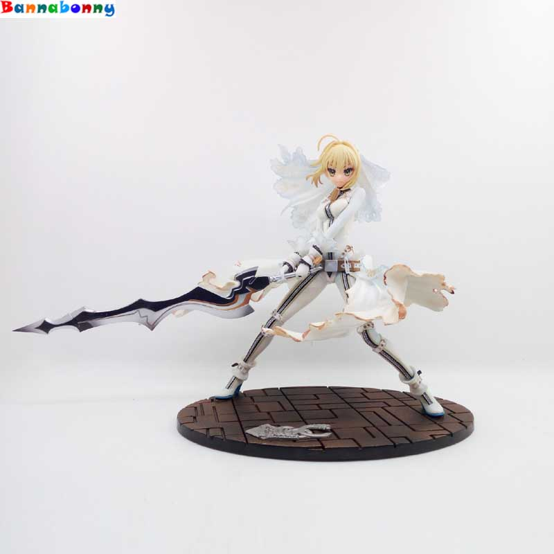 2018 Anime Fate/stay Night GSC EXTRA CCC Saber Bride white Action figure PVC 23cm model collection fate night girl figure doll hot figure toys japan anime fate stay night pvc red saber nero model doll action figure collection gift free shipping p20