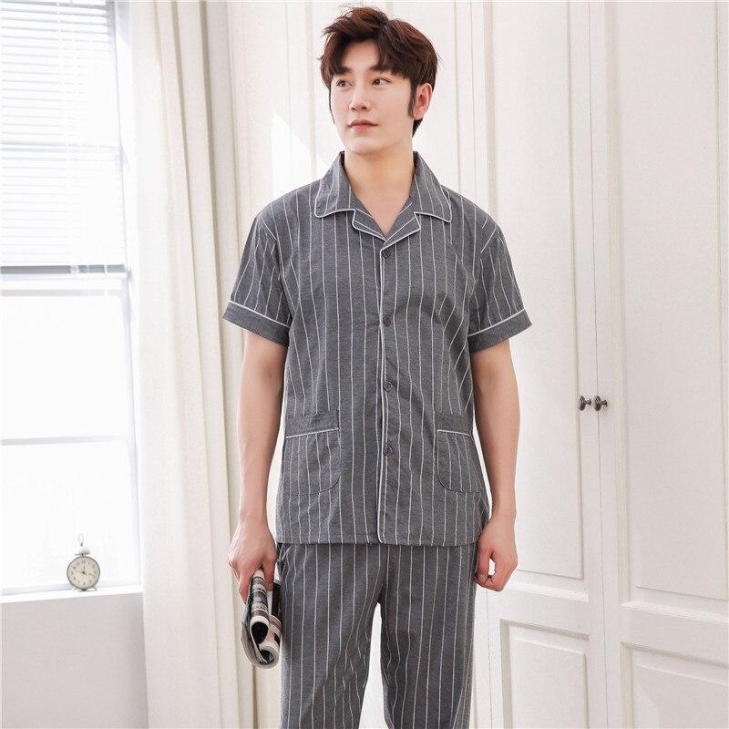 Men Pyjamas Spring Summer Autumn Sleepwear Men Pyjamas Sets Shorts Pajama Male Pijama Leisure Home Clothing L XL XXL XXXL