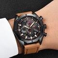LIGE часы для мужчин  модные кварцевые армейские военные часы  мужские s часы  Лидирующий бренд  роскошные кожаные водонепроницаемые спортивн...