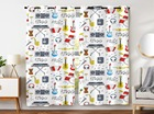 Blackout Curtains 2 Panels Grommet Curtains for Bedroom Cute Sounder Theme Keyboard Guitar Music Notes Drums