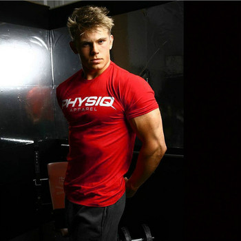 Mens Bodybuilding Brand Gyms T Shirt Fitness Slim Fit Cotton Shirts Short Sleeve Men Fashion Tight Tees Tops Clothing tops tees short sleeve t shirt men s brand fashion slim fit sexy v neck t shirt men 2018 new mens summer hot sale streetwear