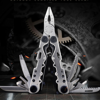 H1080 Outdoor Tactical Equipment Multi Purpose Stainless Steel 11 In One Multi Function Folding Tool Pliers