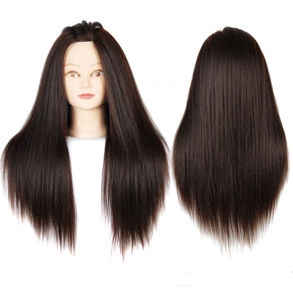Mannequin Head With Hair Brown Color Dummy Hair Mannequins For Sale Mannequin Head With Makeup Training Head For Hairdressers