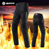 Men SCOYCO P018 2 Moto motocross Motorcycle pants with knee hip Knight pant Motobike riding trousers jeans size M L XL XXL XXXL