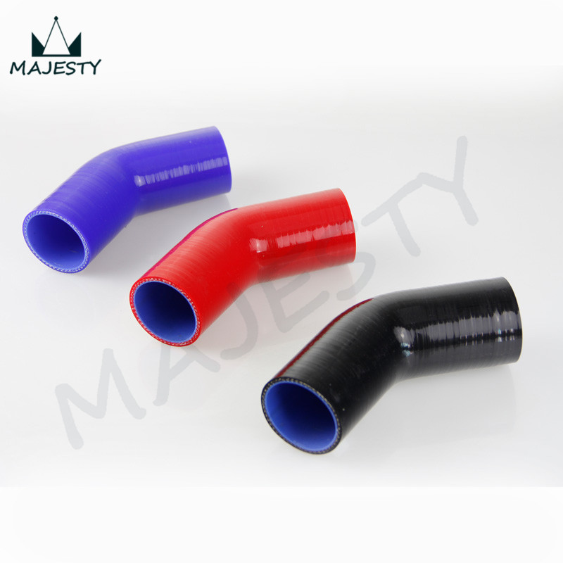 45 /& 90 Degree 2Pcs 63mm 4 Ply Silicone Elbows Turbo Hose Racing Coupler Pipe