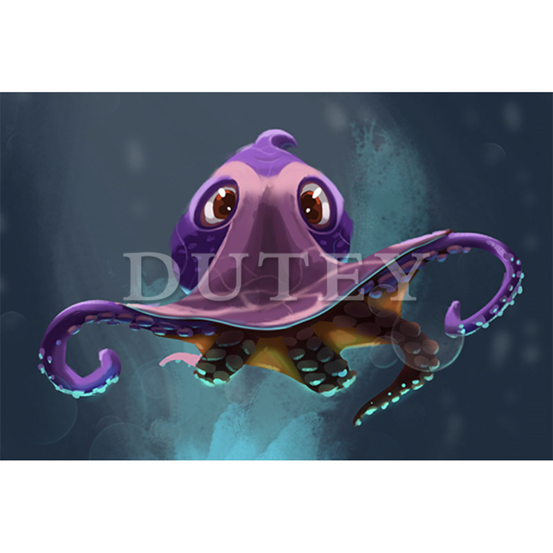 5D DIY Diamant Stickerei Diamant Malerei Voll Platz/Runde Bohrer Cartoon octopus 3D Strass Wohnkultur HYY
