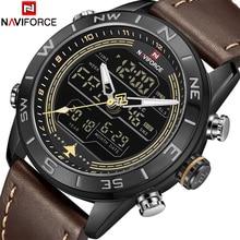 2018 Новый Для мужчин наручные часы naviforce Топ Элитный бренд Мужская мода спортивные часы мужские кожаные аналоговые кварцевые светодиодный часы Relogio Masculio
