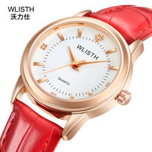 2019 Top Brand Couple Watch Belt Ladies Waterproof High-end Gold Shell Student Pair