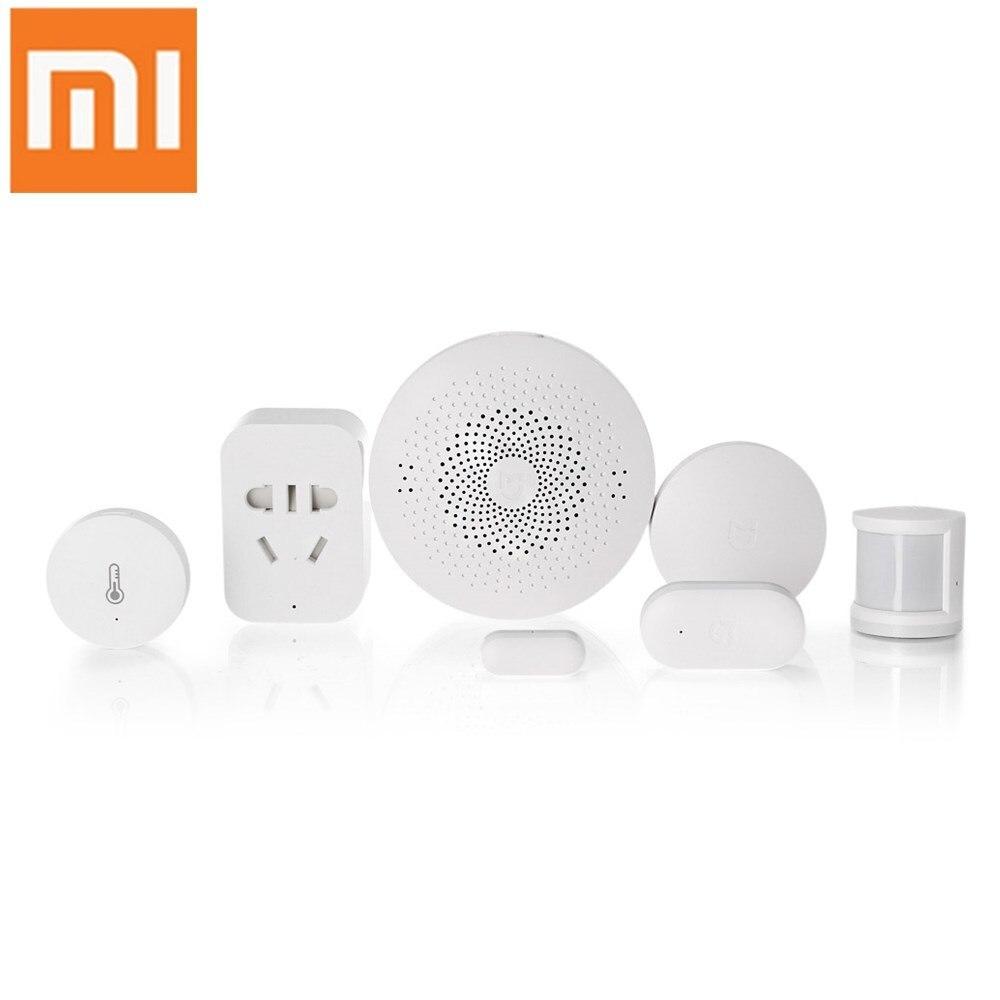 Оригинальный Xiaomi 6 в 1 mijia умный дом Aqara набор безопасности шлюз пульт дистанционного управления оконный дверной датчик набор переключатель ...