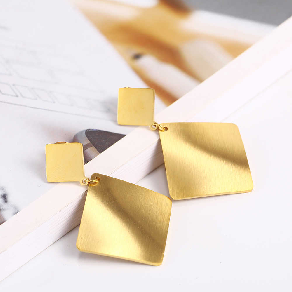 OUFEI Drop Earrings For Women Jewelry Accessories Stainless Steel Jewelry Woman Geometric Earrings Charm Wholesale Lots Bulk
