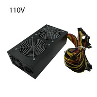 1650W ATX Power Supply PFC Type with 3 Fan For Eth Rig Ethereum Coin Miner 8 SATA Interfaces Mining Power Supply