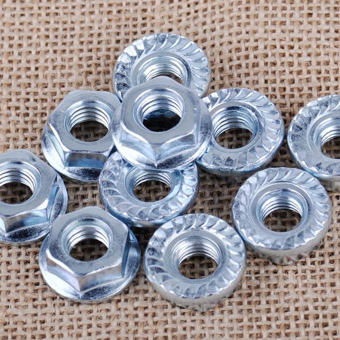 LETAOSK New 10 PCS Metal Bar Nuts 8mm Replacement Fit For Husqvarna & Jonsered Chainsaw