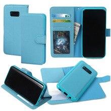 Для Samsung Galaxy S8/S8 плюс чехол бумажник S8plus 2 в 1 premium Магнитный ТПУ задняя крышка сальто PU Кожаный чехол Съемный кошелек