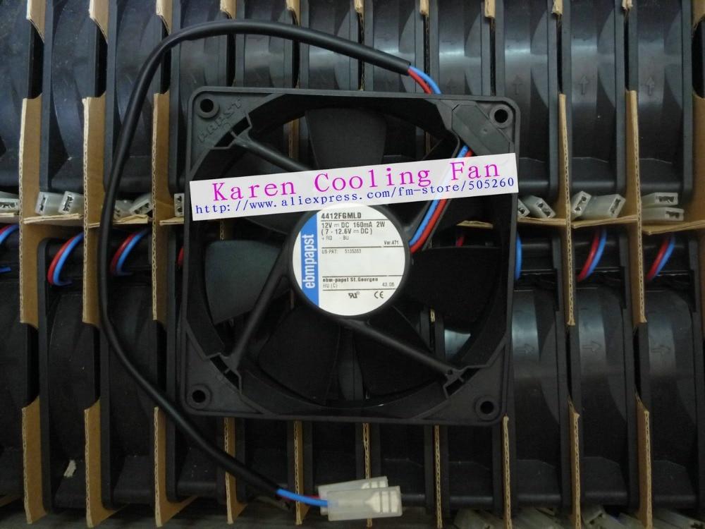 New Original papst 12cm 4412FGMLD 12025 12v 160mA 2W  heatsink axial Cooling FanNew Original papst 12cm 4412FGMLD 12025 12v 160mA 2W  heatsink axial Cooling Fan