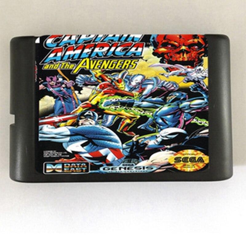Captain America Game Cartridge Newest 16 bit Game Card For Sega Mega Drive / Genesis System