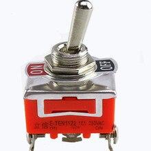 E-TEN1122 15A 250V AC 3PIN ВКЛ-ВЫКЛ-12 мм рычажный переключатель кулисный переключатель Мощность